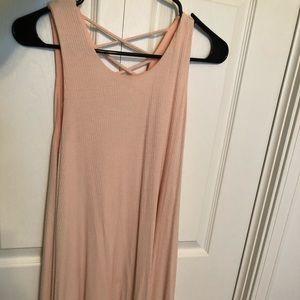 Pink tank top dress